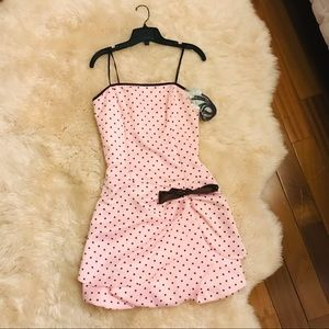 Pink Polka Dot dress Size M NEW